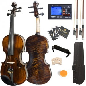 Mendini MV500 Solid Wood Violin