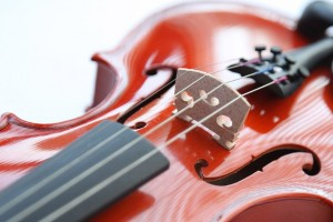 Violin With Strings